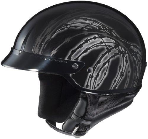 HJC Razor CS-2N Half 12 Shell Motorcycle Helmet - MC-5  Medium