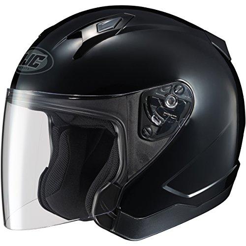 HJC Solid CL-Jet Half 12 Shell Motorcycle Helmet - Black  Small