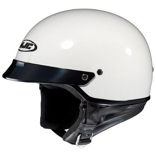HJC Solid CS-2N Half 12 Shell Motorcycle Helmet - White  Large