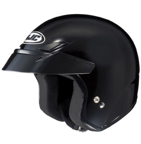 HJC Solid CS-5N Half 12 Shell Motorcycle Helmet - Black  X-Large