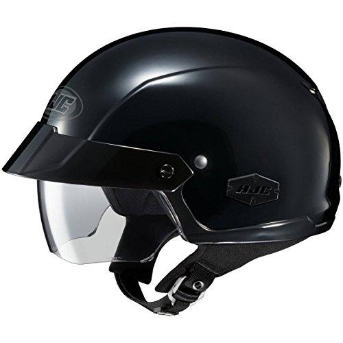 HJC Solid IS-Cruiser Half 12 Shell Motorcycle Helmet - Black  Large