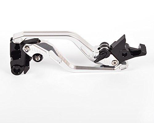 Tencasi Silver New Long Rhombus Hollow Adjustable Brake Clutch Lever for Suzuki GSF1250 BANDIT 2007-2015 DL1000  V-STROM 2002-2017