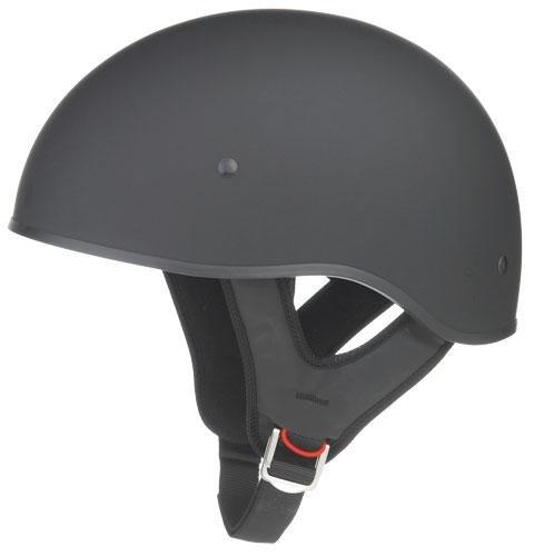 GMax GM35 Fully Dressed Flat Black Half Helmet - Medium