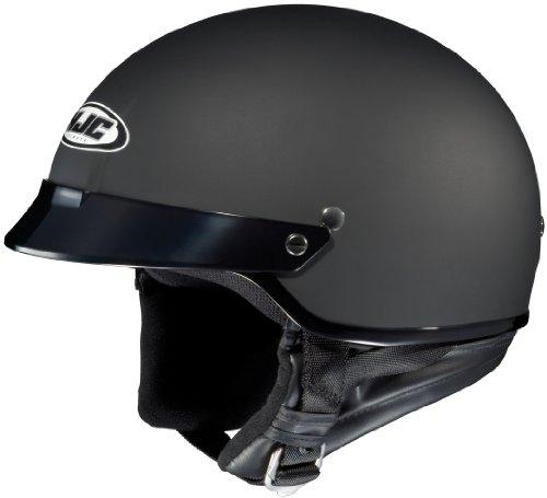 HJC CS-2N Matte Black Half Helmet with Hawk COM-2 Bluetooth Intercom Bundle - X-Small w COM-2 Intercom