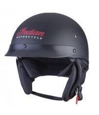 Indian Motorcycle Matte Black Half Helmet 2- Large