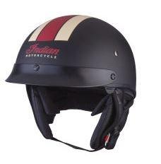 Indian Motorcycle RedWhite Black Half Helmet- Xlarge