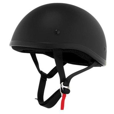 Skid Lid Flat Black Half Helmet S
