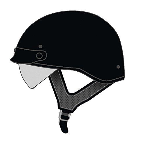 Speed and Strength SS410 Solid Speed Matte Black Half Helmet XL