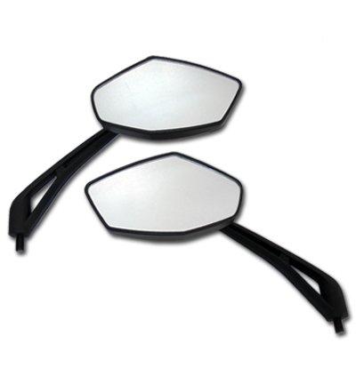 Black Diamond Motorcycle Mirrors for Kawasaki H1 H2
