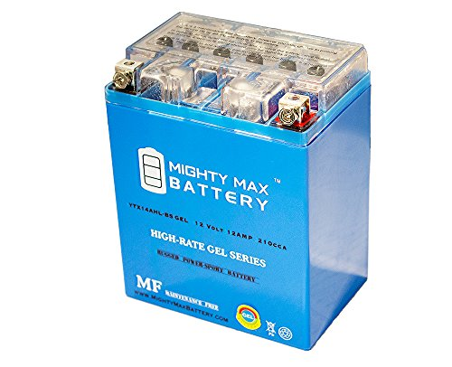 YTX14AHL 12V 12Ah Gel Battery for Kawasaki H1 Series 1973-1975 - Mighty Max Battery brand product
