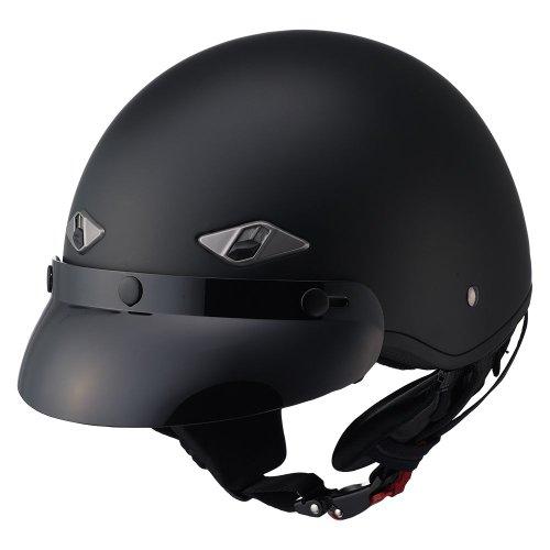 LS2 Helmets HH568 Half Helmet Matte Black Small