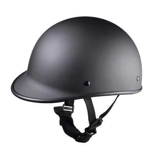 Size M Motorcycle Biker Cruiser Moped Novelty Matte black Polo Half Helmet Touring Low Profile