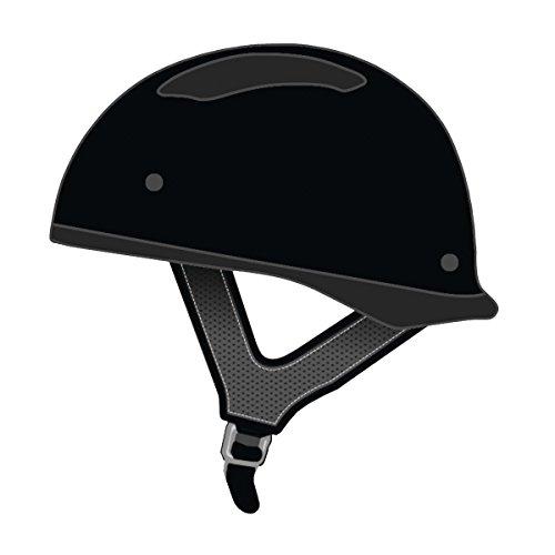 Speed and Strength SS310 Solid Speed Matte Black Half Helmet L