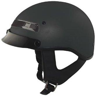 Zox Alto Custom Matte Black Half Helmet XL