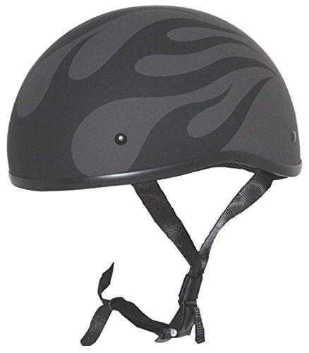 Zox Retro Old School Flame Matte Black Half Helmet M