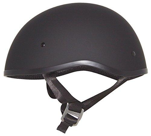 Zox Retro Old School Matte Black Half Helmet L