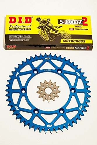 DID Gold Motocross Chain BLUE Sprocket Combo Kit 48 - 53T  13T YAMAHA YZ125 YZ250 05 - 2015 48T