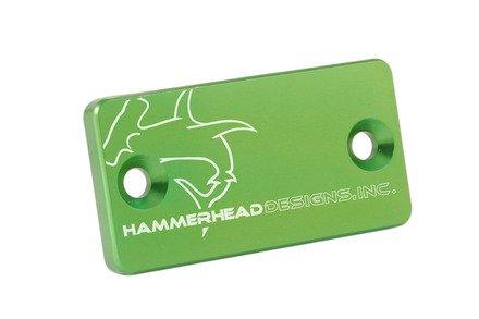 Front Brake Master Cylinder Cap - Hammerhead Designs - GREEN - Kawasaki KX250F KX450
