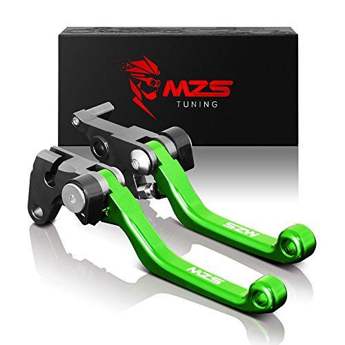 MZS Pivot Levers Brake Clutch CNC for Kawasaki KX250F 2013-2018 KX450F 2013-2018 KX250 2019 Green