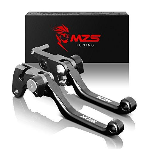 MZS Pivot Levers Brake Clutch CNC for Yamaha YZ125 YZ250 YZ426F YZ450F 2001-2007 YZ250F 2001-2006 Black