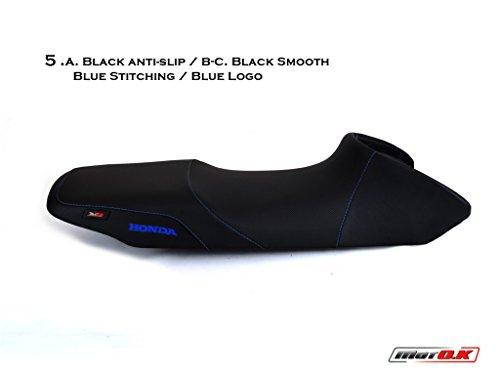 Honda Transalp 650 MotoK Seat Cover Anti-Slip New D518BT2 Blue Stitching