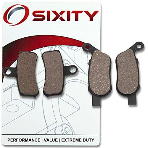 Sixity Front  Rear Ceramic Brake Pads 2012-2015 Harley Davidson FXDWG Dyna Wide Glide Set Full Kit Spoke Wheels Complete