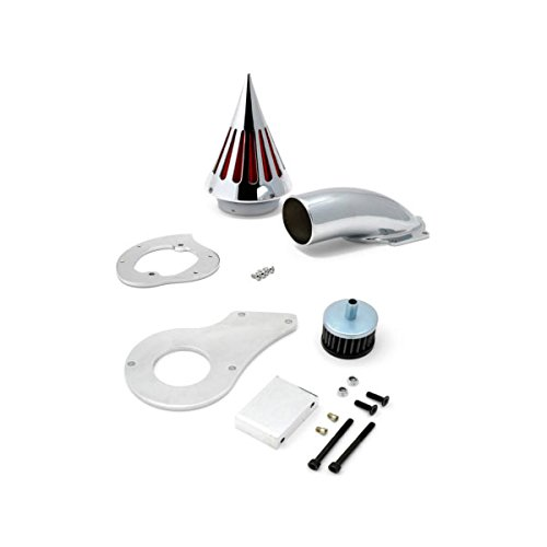 Krator 1999 up Honda Shadow 600 Cruiser Chrome Billet Aluminum Cone Spike Air Cleaner Kit Intake Filter Motorcycle