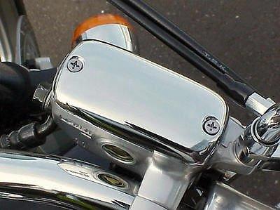 i5 Chrome Front Brake Fluid Cap for Honda Shadow 600 750 Spirit 1100 1300