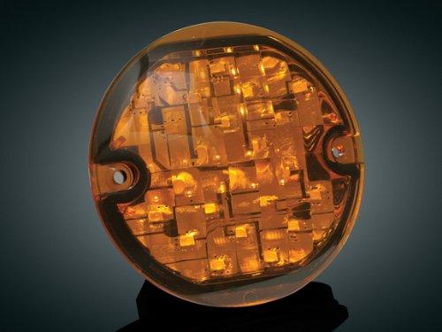 Kuryakyn LED Front Turn Signal Conversion - Flat Style - Red 4906