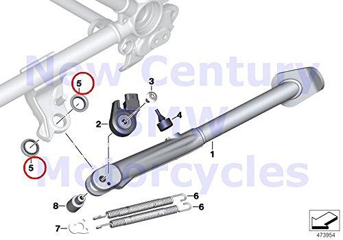 2 x BMW Genuine Motorcycle Side Stand Collar Bush C600 Sport C650GT R nine T R1200GS R1200GS Adventure HP2 Enduro HP2 Megamoto R1200RT R900RT R1200R R1200ST HP2 Sport R1200S K1200S K1300S K1200R K120