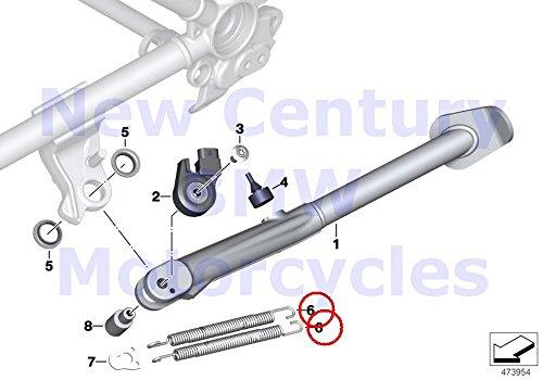 2 x BMW Genuine Motorcycle Side Stand Tension Spring R100R Mystik R1100S R1200C R1200 Montauk R1200C Independent K1200LT K1200RS F650 F650ST F650CS R1200GS R1200GS Adventure R1200CL K1200GT K1200RS K1