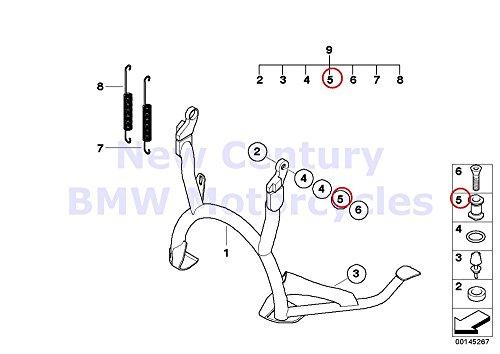 2 x BMW Genuine Motorcycle Center Stand Pivot Pin R1100S R1200GS R1200GS Adventure R1200RT R900RT R1200R R1200ST