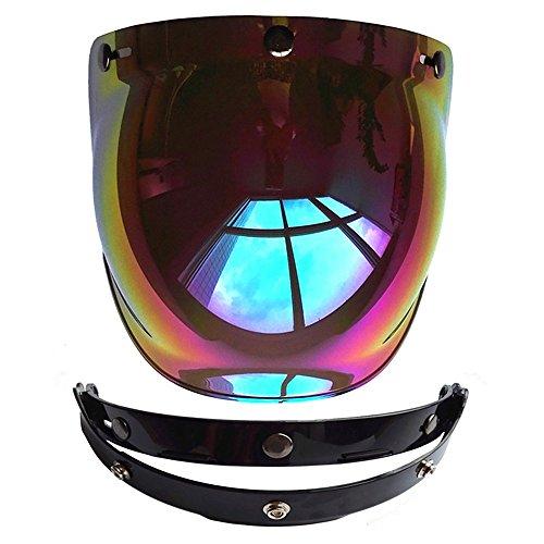 Cuzaekii Open Face Motorcycle Helmet Bubble Visor Lens Motorbike Glasses fit for Harley Jet Helmets Colorful