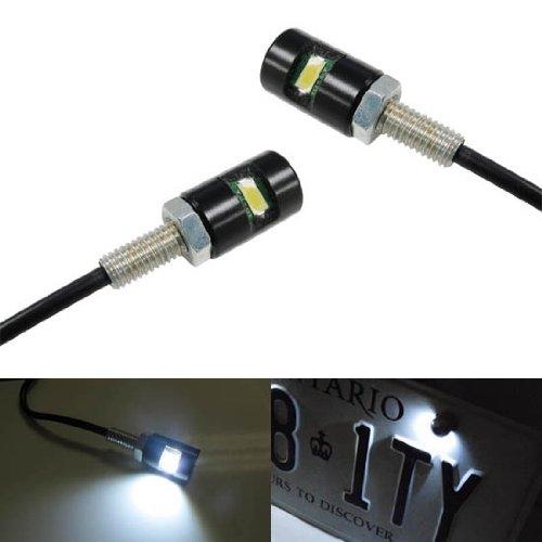 iJDMTOY 2 12V Xenon White 5730-SMD Bolt-On LED License Plate Lights For Car Truck ATV Motorcycle Bike etc