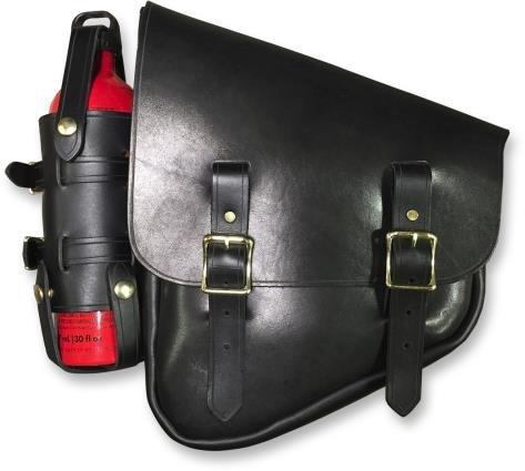Nash Motorcycle Company FBLBLBR Nashty Fuel Bag - Black w Brass Hardware