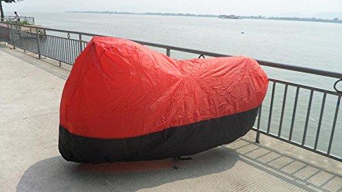 Black Red XL YAMAHA V Star Classic Custom Motorcycle Cover