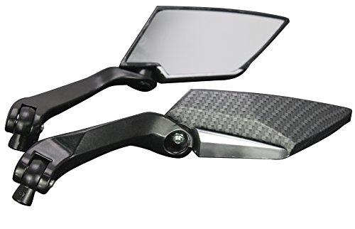 BLACK CARBON MOTORCYCLE CRUISER CUSTOM REARVIEW MINI MIRRORS FOR 2012 Honda Ruckus 50 NPS50
