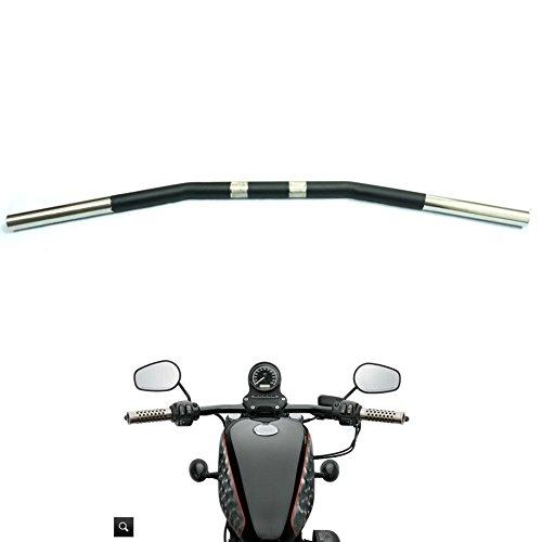 Alpha Rider 1 inch Drag Style Steel Handlebars Drag Bar Dimpled for Harley Dyna Low Rider FXDL 1993 - 2005 2007 - 2017  Street Bob EFI FXDBI 2006