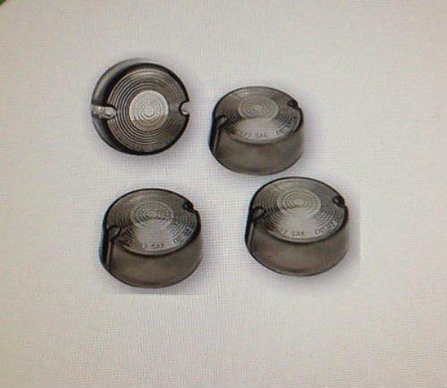 Smoke Turn Signal Lens Set 4 Harley Dyna Low Rider - FXDL 93-2001 repl OEM 68457-86