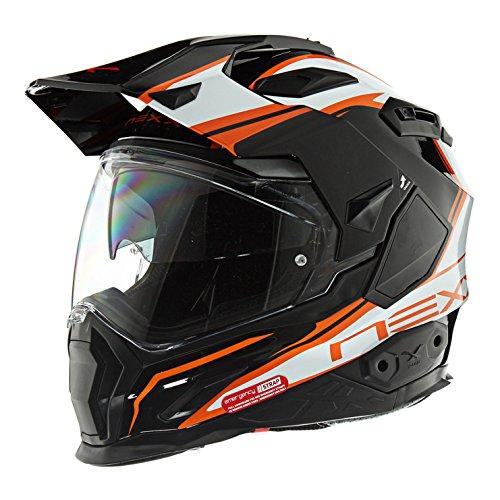 Nexx XD1 Voyager White Orange Helmet size Large