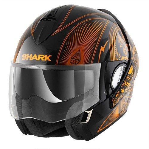 Shark Evoline Series 3 Mezcal Chrome Black Orange Helmet L