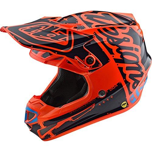 Troy Lee Designs 2018 Youth SE4 Polyacrylite Orange Helmet LARGE
