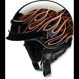 Z1R Nomad Hellfire Helmet  Size Md Distinct Name BlackOrange Helmet Category Street Primary Color Orange Helmet Type Half Helmets Gender MensUnisex XF0103-0683