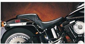 Le Pera Daytona Sport Vinyl Seat for 1982-2010 Harley Davidson Sportster Models - Color  Black - Size  HD XL883R Sportster 883 Roadster 2007