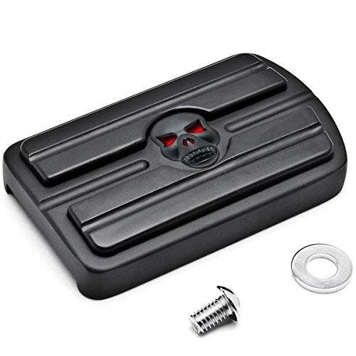 Krator Black Brake Pedal Pad Cover Black NonSlip Rubber For Harley Davidson Dyna Switchback Models 2012-2015