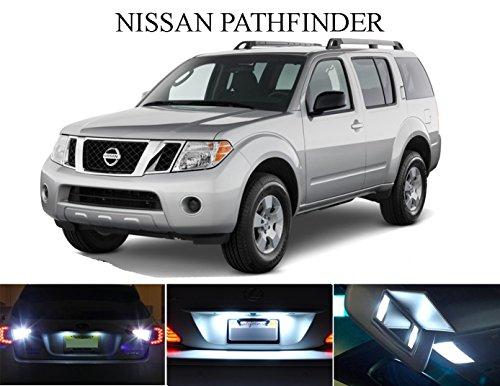 1997 - 2015 Nissan Pathfinder Xenon White LED Package for License Plate  VanitySun Visor lights 6 Pieces