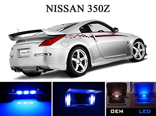 2003 - 2008 Nissan 350Z Ultra Blue LED Light Bulbs for Vanity Sunvisor 4 Pieces