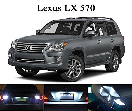 2008 - 2011 Lexus LX 570 Xenon White LED Package for License Plate  Vanity Sun Visor 4 pieces