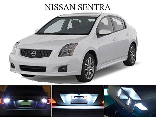 LED light for 2007 - 2015 Nissan Sentra Xenon White LED Package for License Plate  VanitySun Visor lights 6 Pieces