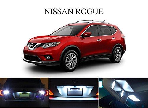 LED light for 2008 - 2014 Nissan Rogue Xenon White LED Package for License Plate  VanitySun Visor lights 4 Pieces